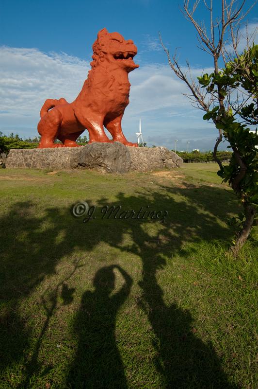 Giant ShiShi Dog at Cape Zanpa, Okinawa, Japan
